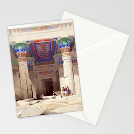 David Roberts Grand Portico of the Temple of Philae Nubia Stationery Cards