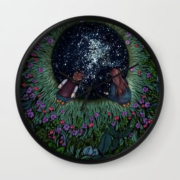 The Hole We Found in the Garden | Coloured Version Wall Clock
