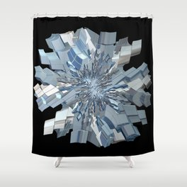 Fractal Snowflake Shower Curtain