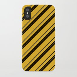 Potterverse Stripes - Hufflepuff Yellow iPhone Case