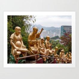 Ten Thousand Buddhas Monastery, Hong Kong Art Print