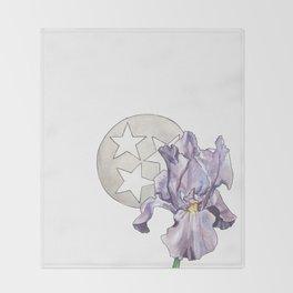 Tennessee Iris Throw Blanket
