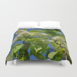Mayday Tree in Bloom Duvet Cover