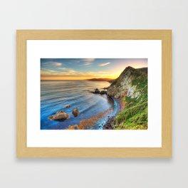 Catlins Sunset Framed Art Print
