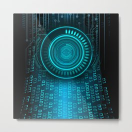 Futurist Matrix | Digital Art Metal Print