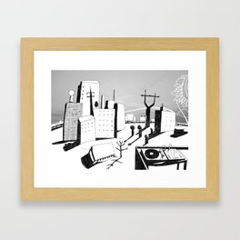 suburb Framed Art Print