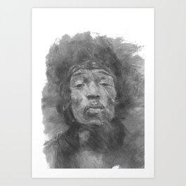 Jimmi Hendrix Art Print
