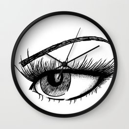 Sultry Eye Wall Clock