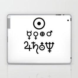 Planetary Symbols Laptop & iPad Skin