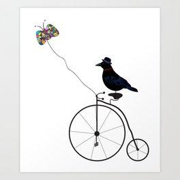 Lazy Raven Art Print