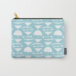 Retro Mid Century Modern Abstract Mobile 676 Blue Carry-All Pouch