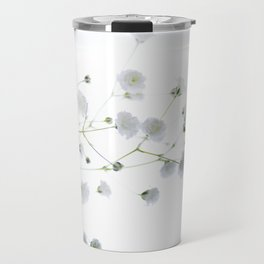 Soft and Delicate Babys Breath Travel Mug