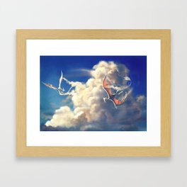 Cloud Dragons Framed Art Print