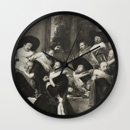 The Officers of the Corps of St Adriaen Wall Clock