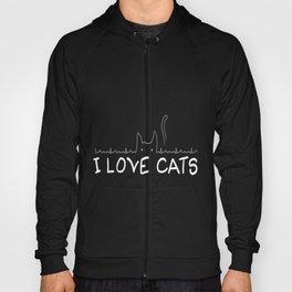 I Love Cats 2 Hoody