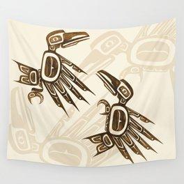 Dancing Ravens Wall Tapestry