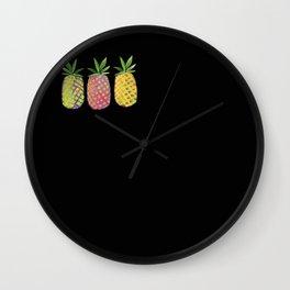 Pineapple crush Wall Clock