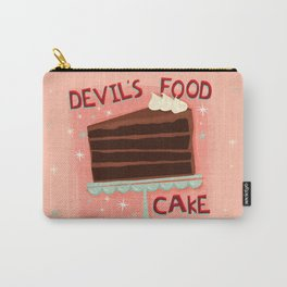 Devil's Food Cake An All American Classic Dessert Carry-All Pouch