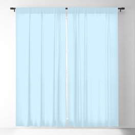 Retro Pastel Blue Blackout Curtain