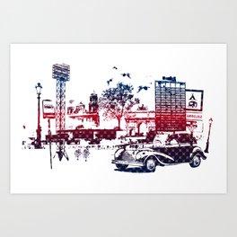 Fantasy city Art Print
