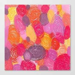 Candy Swirlies Canvas Print