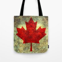 canada Tote Bags featuring Oh Canada! by Bruce Stanfield