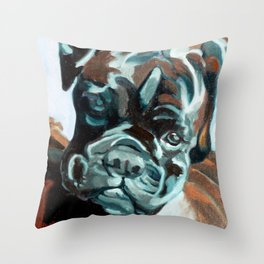 Smokey the Boxer Dog Throw Pillow