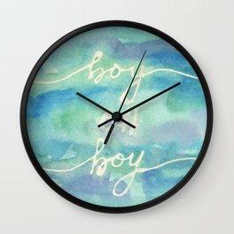 Boy Oh Boy Wall Clock