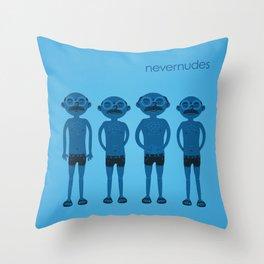 The Nevernudes Throw Pillow