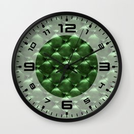 Opulent Tufted 6 Wall Clock