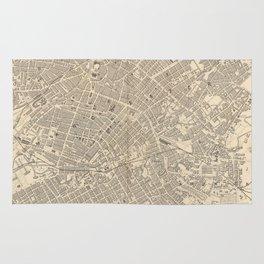 Vintage Map of Manchester England (1851) Rug