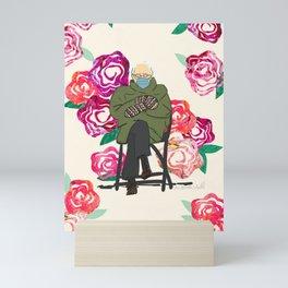 Floral Bernie  Mini Art Print