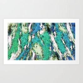 The second rockslide Art Print