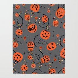 Halloween Magic- Grey Poster