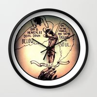 homestuck Wall Clocks featuring The Hand of God by Christine Eglantine