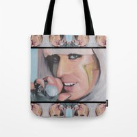 poker Tote Bags featuring Poker Face by LilKure