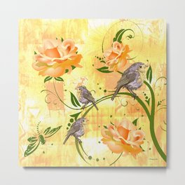 The Sparrow's Melody Metal Print