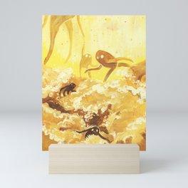 whisps — YELLOW Mini Art Print