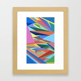 Colorful Triangle Pattern Framed Art Print