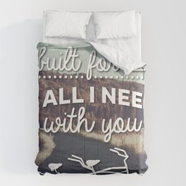 """""""A bicycle built for two is all I need with you""""  Comforters"""