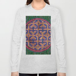 Song for Creativity - Traditional Shipibo Art - Indigenous Ayahuasca Patterns Long Sleeve T-shirt