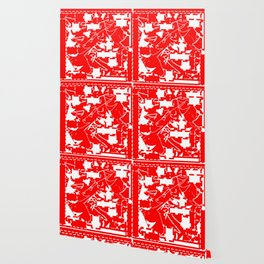 The date between red and white Wallpaper