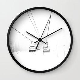 Ski Lift Art, Winter Wall Art, Minimalist Wall Art Wall Clock
