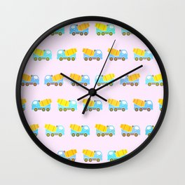Toy truck pattern Wall Clock