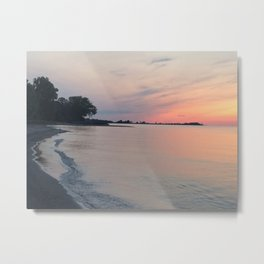 Sunset over Lake Erie Metal Print