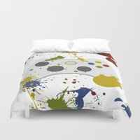 xbox Duvet Covers featuring Controller Graffitti XBOX by AngoldArts