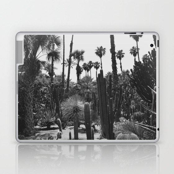 Tropical Cacti Gardens BW Laptop & iPad Skin