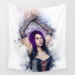 Gothic Steampunk Woman Wall Tapestry