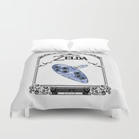 majora Duvet Covers featuring Zelda legend - Ocarina of time by Art & Be