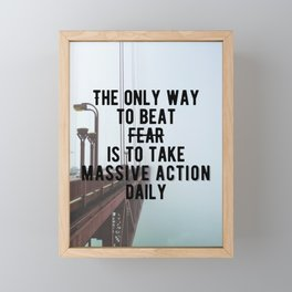 Motivational - Take Massive Action Daily Quote Framed Mini Art Print